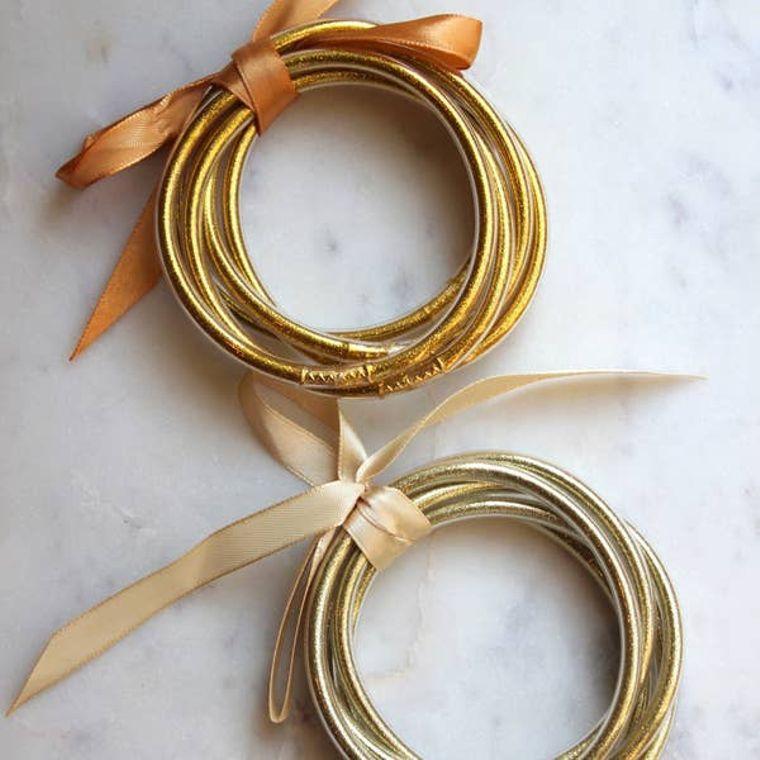 Gold Bangle Set (Set of 5 bangles per case) - choose dark gold or light gold (message me)