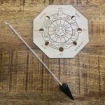 Black Tourmaline Pendulum w/ Wooden Pendulum Moon Board