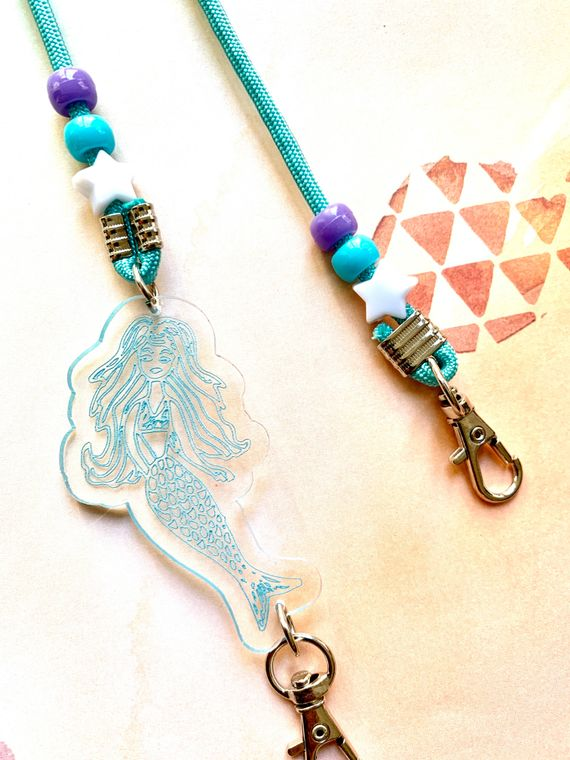Mermaid Mask Chain For Kids or Adults