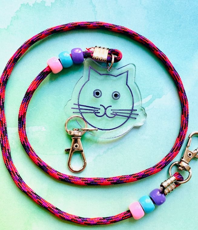 Cat Mask Chain For Kids or Adults