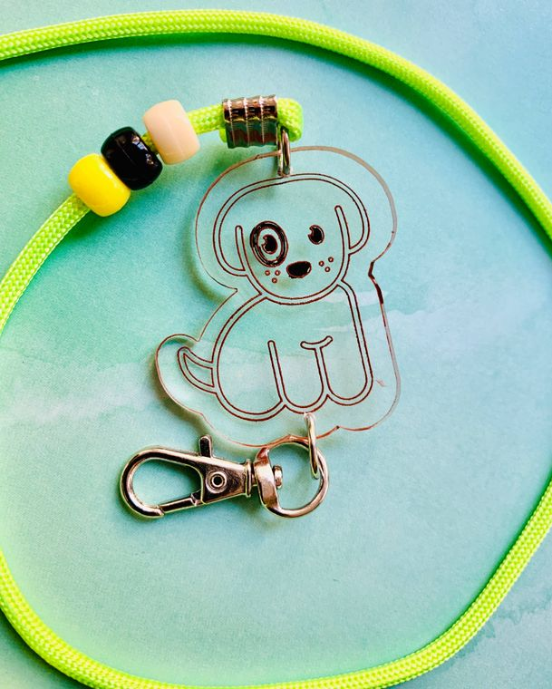 Dog Mask Chain For Kids or Adults