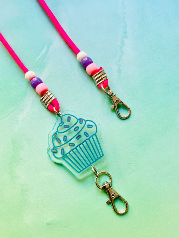 Cupcake Mask Chain For Kids or Adults