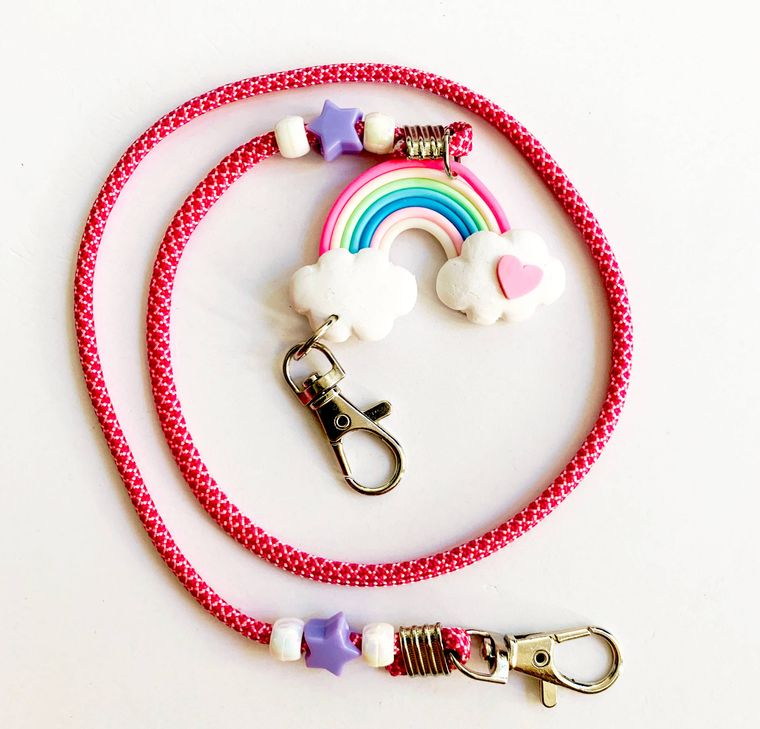 Mask Mate Chain Kids or Adults Rainbow Paracord