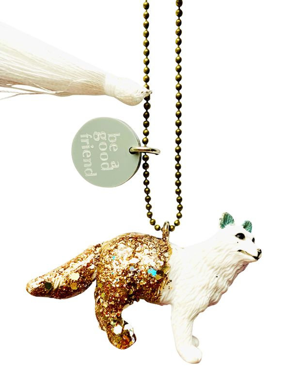 Arty the Arctic Fox Animal Buddy Necklace