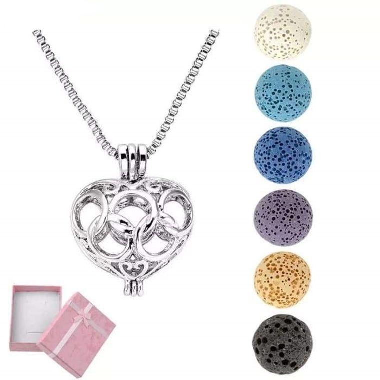Cage Lava Stone Necklace