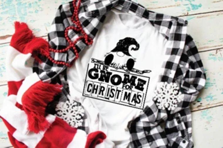 Gnome For Christmas Adult Tee