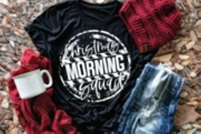 Christmas Morning Squad Adult Tee