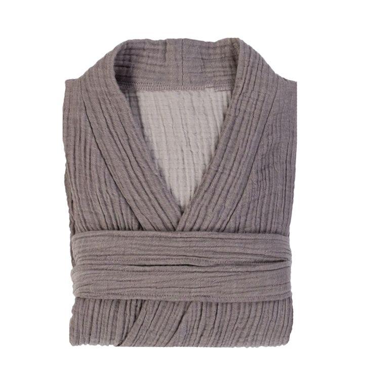 Grey Cloud Cotton Unisex Bath RobeL/XL