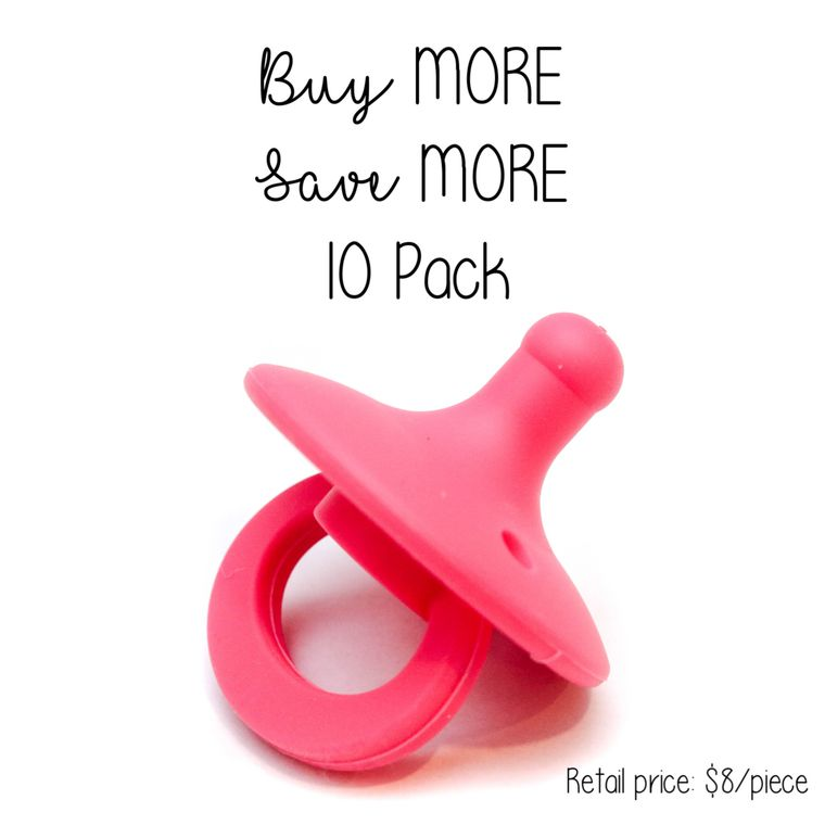OLI pacifier : 10 Pack Hibiscus