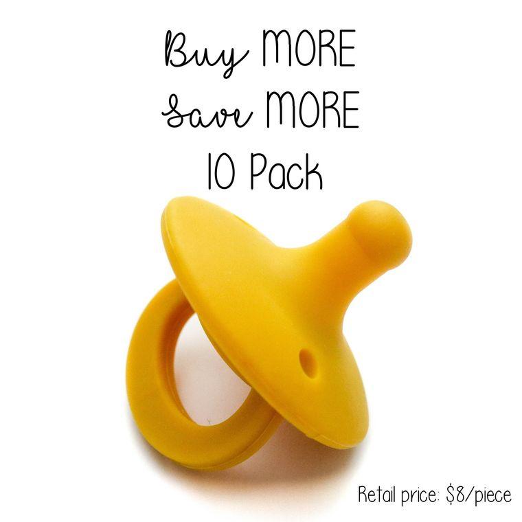 OLI pacifier : 10 Pack Mustard