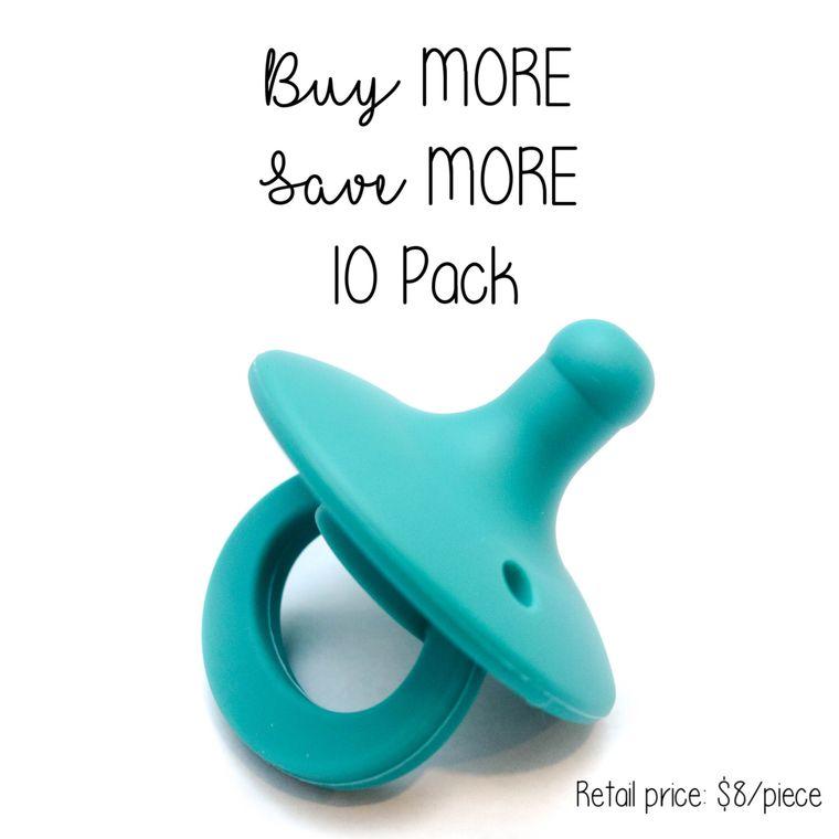 OLI pacifier : 10 Pack Peacock