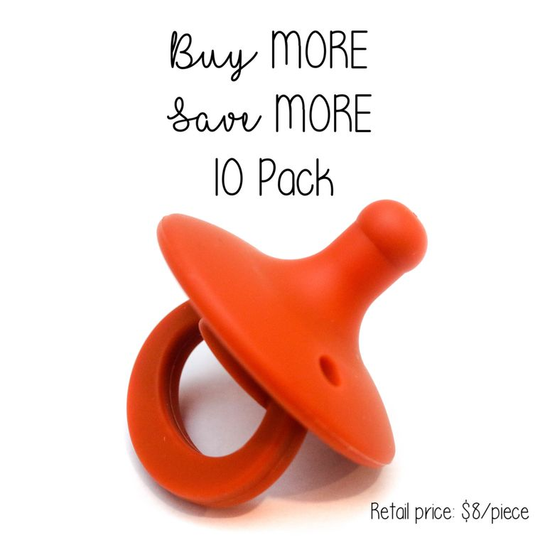 OLI pacifier : 10 Pack Terracotta