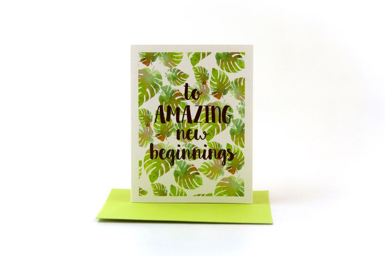 retirement card | coworker leaving | to amazing new beginnings