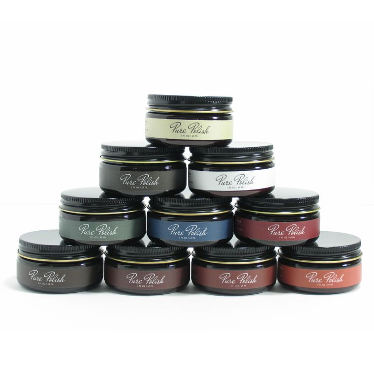 Pure Polish Premium Natural Shoe Cream Polish - 2 oz - Multiple Colors Available