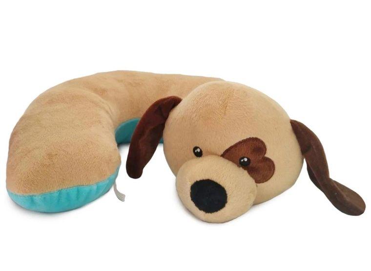 SNUG-Beige Dog Pillow w/Heart Eye