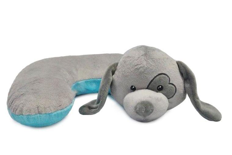 HUGG-Grey Dog Pillow w/Heart Eye