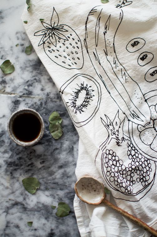 Natural Fruit Tea Towel