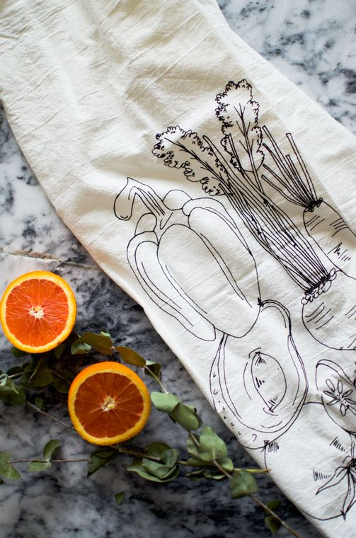 Natural Veggie Tea Towel