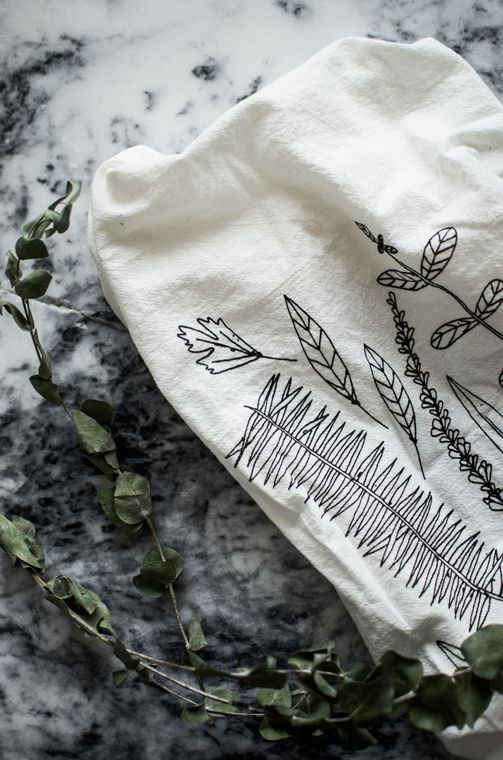 Natural Herb Tea Towel
