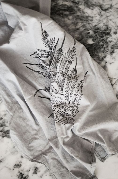 Gray Fern Tea Towel