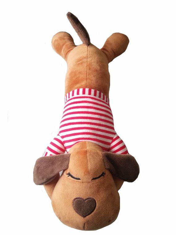 BUDDY- Body Pillow Brown w/Red Stripe Shirt
