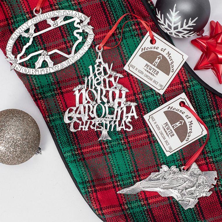 Minimum Order Set- Handcrafted Top Selling North Carolina NC Christmas Ornaments