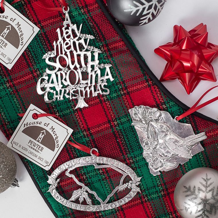 Minimum Order Set-Handcrafted Top Selling South Carolina SC Home State Christmas Ornament
