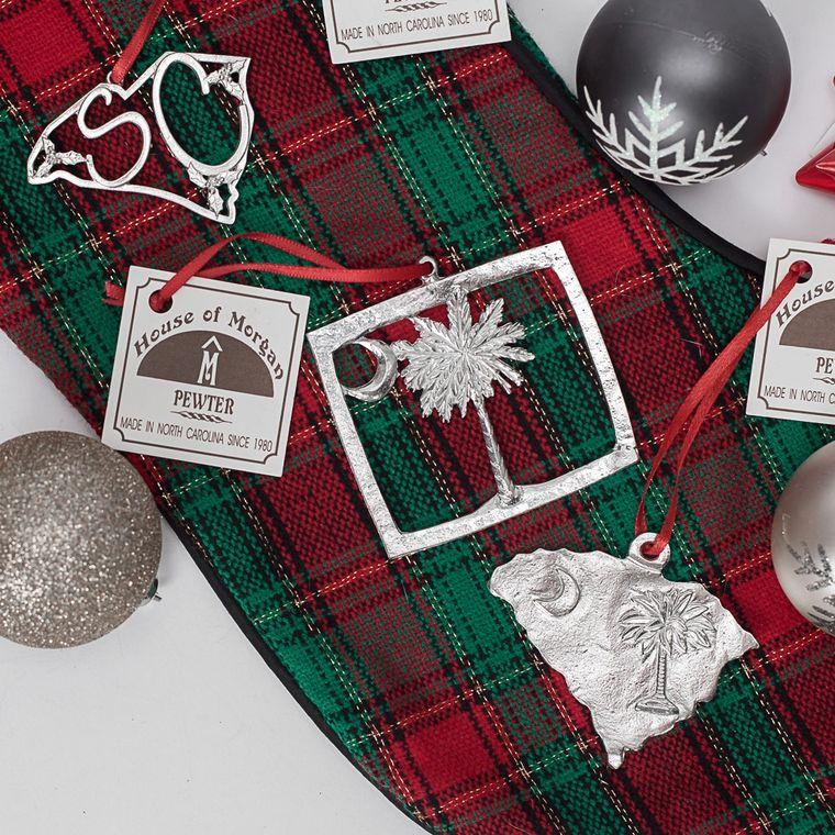Minimum Order Set- Handmade Top Selling South Carolina SC Flag Christmas Ornament