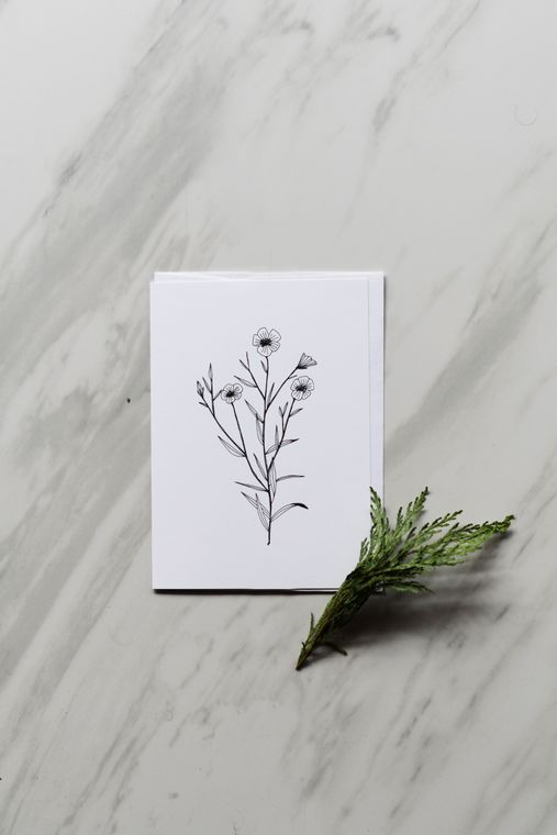 Flax Flower Greeting Card
