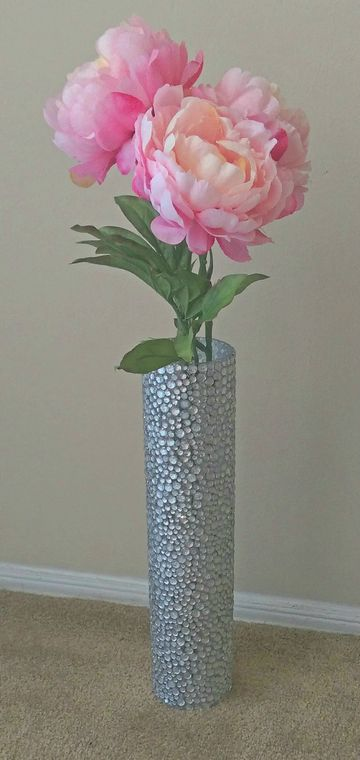 18 Inches Tall  Gemstone Floor Vase