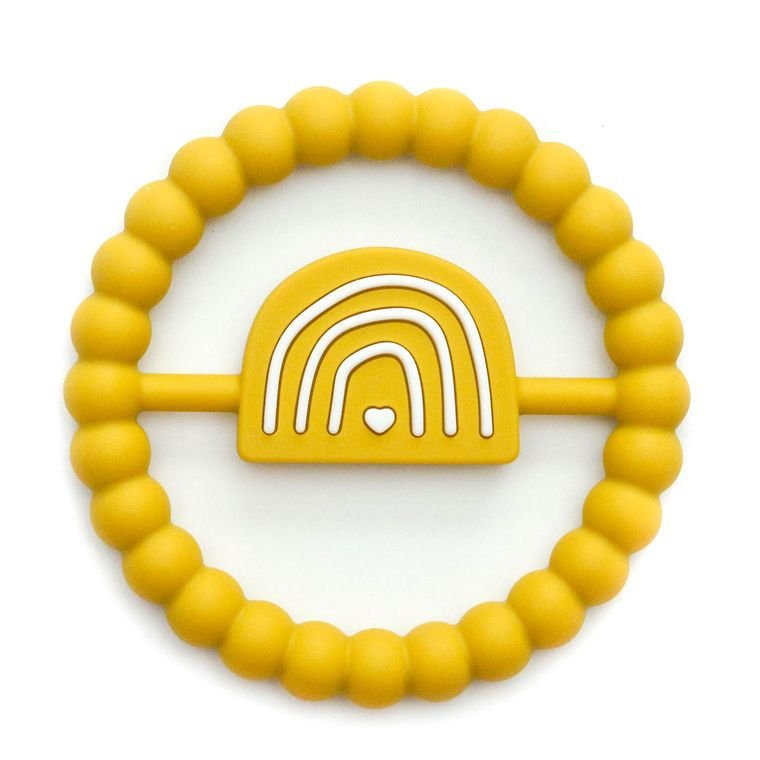 Rainbow Ring Teether : Mustard