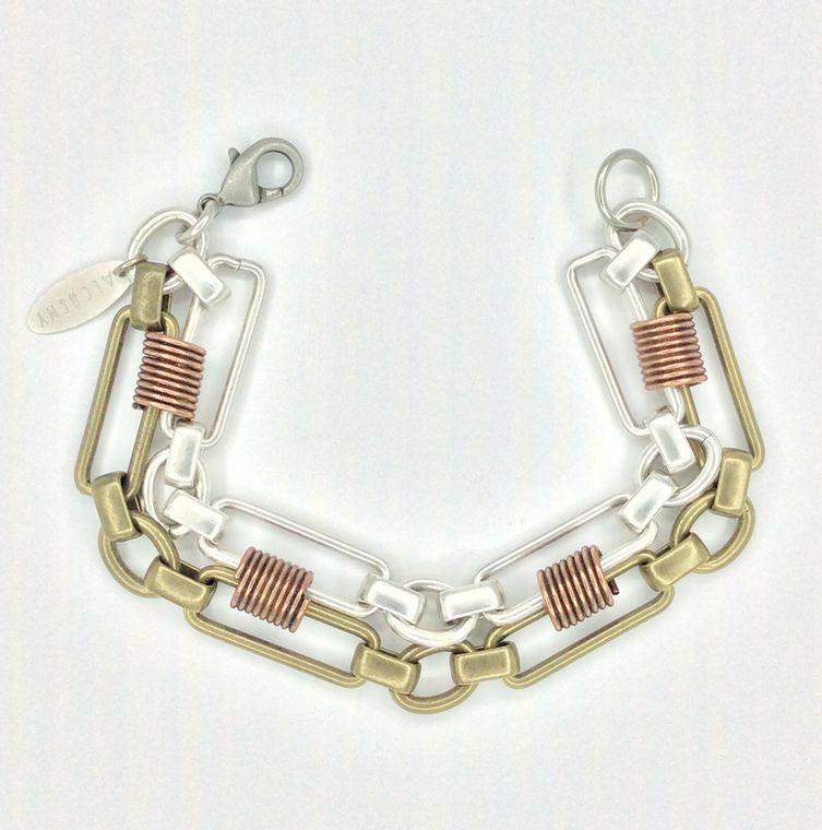 Mixed Metal Bracelet - 1543