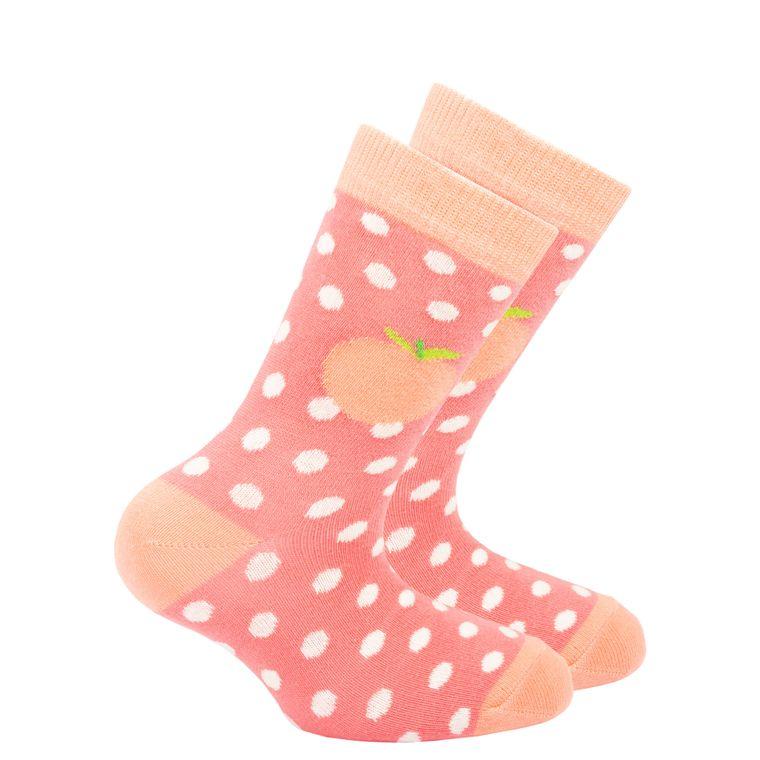 Kids Peach Dot Socks