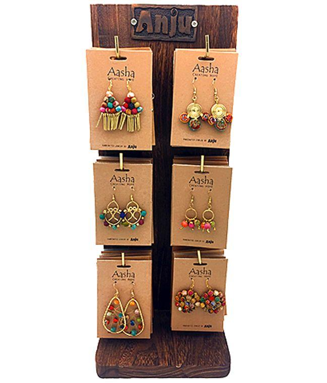 Aasha Prepack: 24 Earrings and Display