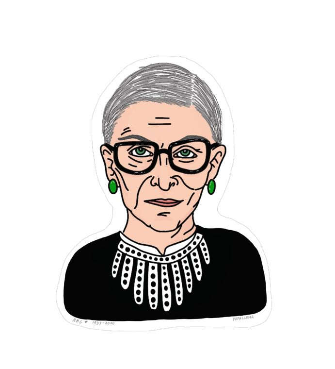 "Ruth Bader Ginsburg, Icon 3"" Sticker"