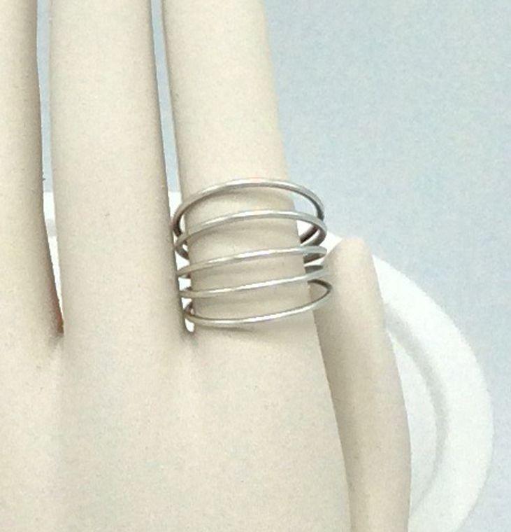 Industrial Curve Bar Ring - R58