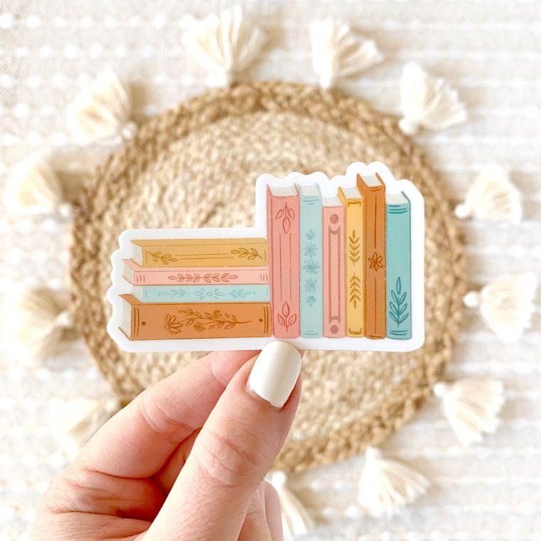 Stack of Books 3x2in. Sticker
