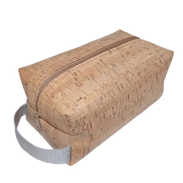 Vegan Cork Toiletry Bag / Shaving Bag / Dopp Kit / Bathroom Organizer / Travel Bag / Cosmetics Bag