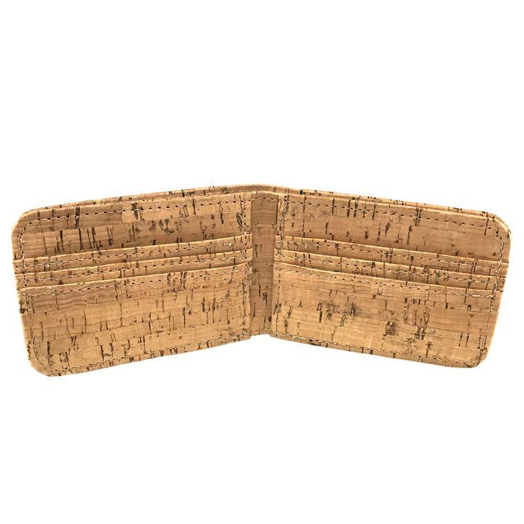 Men's / Women's Vegan Cork Bi-fold / Billfold Wallet
