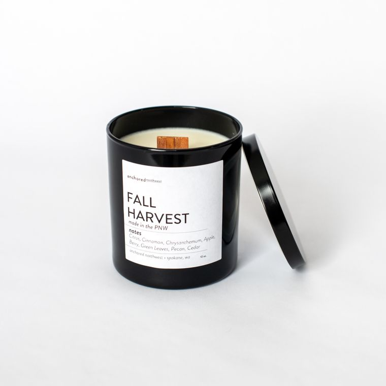 Fall Harvest - Black Tumbler w/ lid