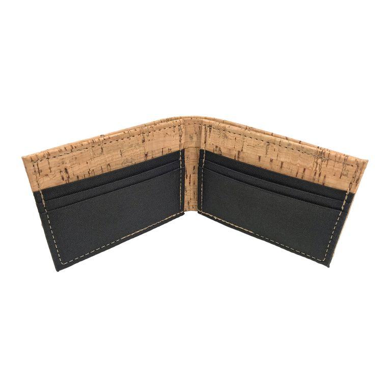 Men's Vegan Cork & Polyester Bifold / Billfold Wallet