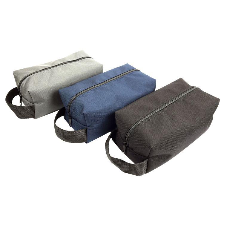 Men's / Women's Nylon Toiletry / Travel Bag / Dopp Kit (Black)
