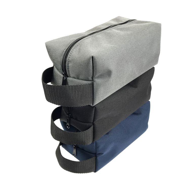 Vegan Toiletry Bag/Shaving Bag/Dopp Kit/Bathroom Organizer/Travel Bag (Navy Blue)