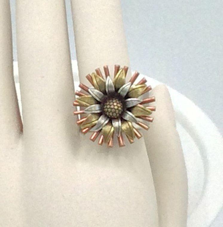 Adjustable Flower Ring - R56
