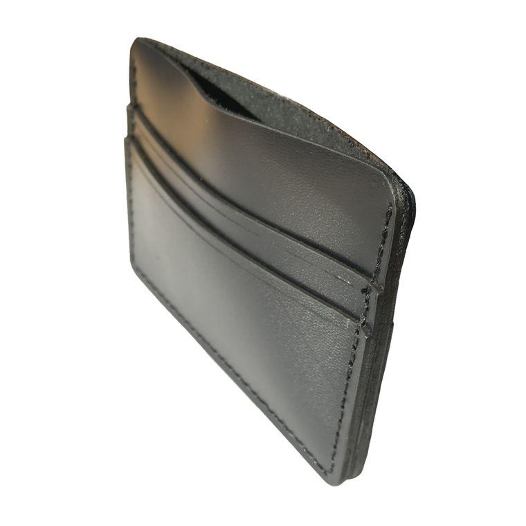 Black Men's / Women's Leather Card Holder Wallet