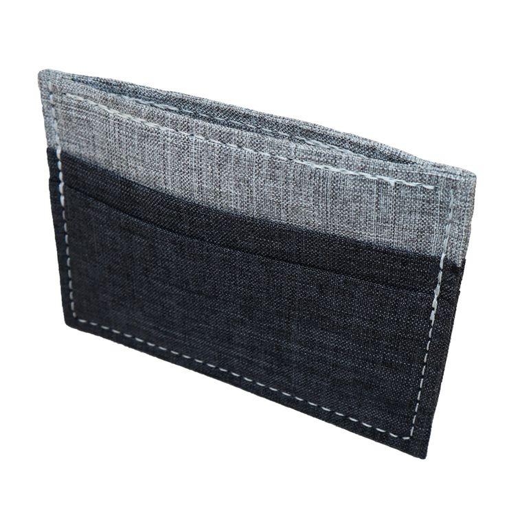 Men's/ Women'sMinimalist Polyester Card Holder Wallet, Vegan Gray Card Wallet Handmade in USA