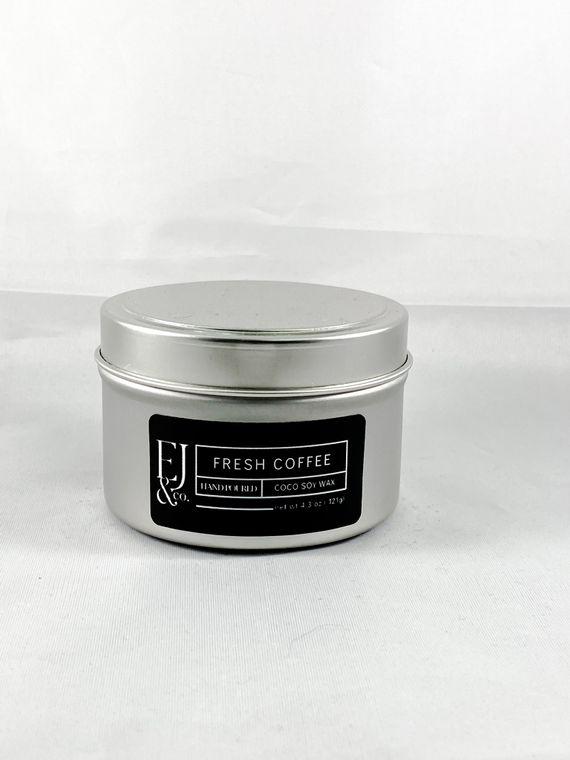 Fresh Coffee [4.3 oz soy/coconut wax candle]