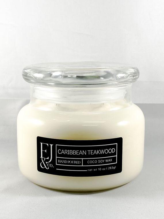 Caribbean Teakwood [10 oz soy/coconut wax candle]