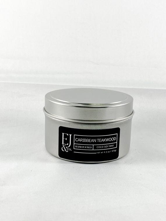 Caribbean Teakwood [4.3 oz soy/coconut wax candle]