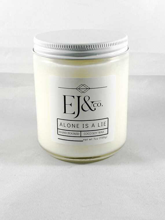 Alone Is A Lie [7 oz soy/coconut wax candle]